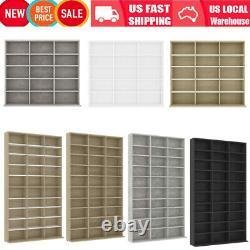 CD DVD Étagère De Stockage Affichage Rack Tower Stand Organizer Cabinet Wood Bookshelf