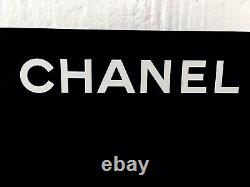 Chanel Black Store Display Stand Double Sided White Letters Stand Sign