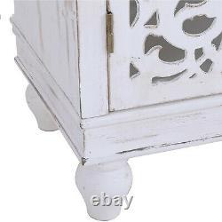 Coffret De Stockage Avec Des Portes En Bois Organisateur D'affichage Console Table Hollow White