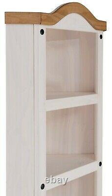 Corona White Corner Display Unit 1 Bibliothèque De Porte Mexican Solid Pine Storage