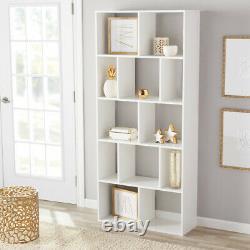 Cube Stockage Bookcase Bookshelf 12-cube Modern Wood Display Stand White