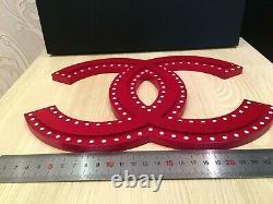 Deux Très Rare Chanel Magasin Afficher Factice 5 + Logo CC (couleur Rouge Acrylique)