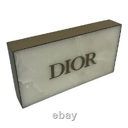 Dior Counter Store Display White Marble Gold Tone