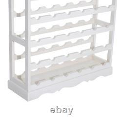 Elegant Wine Rack Wooden Storage Display 4 Étagères 24 Porte-bouteilles Comptoir