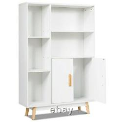 Étagère D'étagère D'affichage En Bois De Stockage D'armoire D'armoire Tv Stand