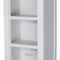 Grande Bibliothèque D'affichage Ouverte Classique De L'étagère De Stockage En Bois De Meubles Gris Blanc