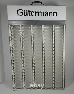 Gutermann Sewing Thread 100 Count White Cabinet Rack Store Display (vide)