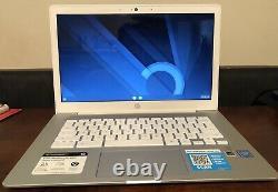 HP 14 Écran Tactile Chromebook 4 Go Ram 64 Go De Stockage En Céramique Mode D'affichage Blanc