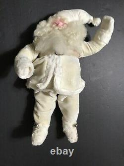 Harold Gale Santa Claus 1950 Rare White Velvet Suit 15 Store Clause D'affichage