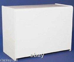 Haute Classe 1200mm White Effect Wooden Counter Shop Display Till Sales Storage