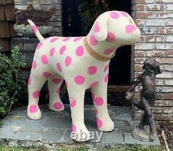 Huge 69 Victoria's Secret Pink Dog Mascot Store Display Polka Dot Retraité Rare