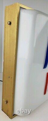 Ice Cream Vtg Hershey Lighted Signeront Un Magasin Fenêtre D'affichage Gaufrée 28x14