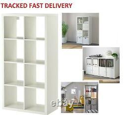 Ikea Kallax Blanc, 8 Étagères Unit Display 8 Cube, Rangement, Bibliothèque, Étagère