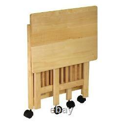 Imprimante Pliante Moderne Cart Mobile Support De Table Latérale Display Storage Brown