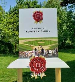 Jim Beam Promo Store Display Étagère Baseball Thème Bat Homeplate Bois Métal