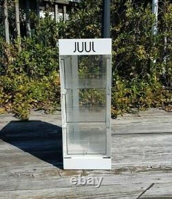 Juls White Store Display Case Maison Countertop Cabinet Homme Cave Metal
