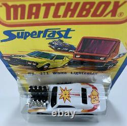 Matchbox Superfast Blister Tiré De L'affichage De Magasin III Blanc Éclaircissant Menthe
