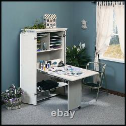 Meilleur Craft Table Armoire Armoire De Garde-meubles Pliant Couture Blanc Bureau Nouveau