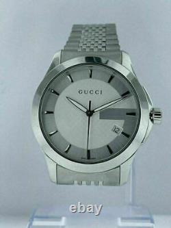 Modèle D'affichage De Magasin Gucci G Intemporel Ya12640 Montres Quartz Pour Hommes Msrp 790 $