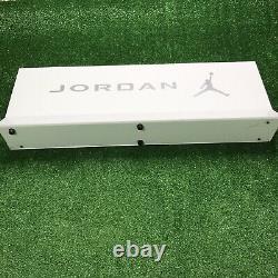 Nike Air Jordan Rare Store Display Sign Blanc Argent Vntg 90s Y2k Rare Vintage