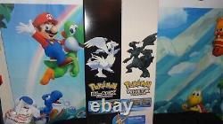 Nintendo 2012 Poke'mon Black / Poke'mon Blanc White Sign Promo Display Très Rare