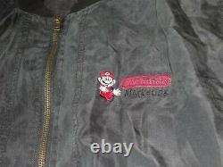 Nintendo Marketing 1993 Silk Vintage Veste Employee Promo Store Display Rare