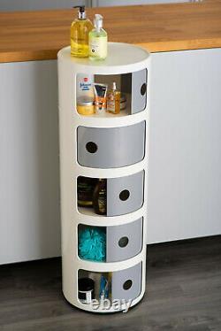 Nouvelle Unité D'affichage Ronde De Cabinet De Rangement En Plastique De Style Componibili Italien Moderne