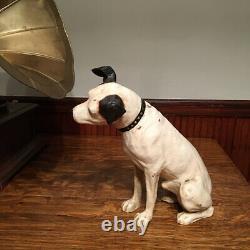Original Antique Paper Mache Rca Victor Nipper Dog Store Display 14