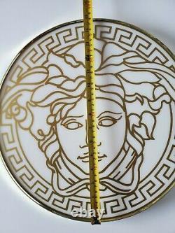 Panneau D'affichage Personnalisé Versace Medusa Signature Gold White Combinaison De Magasin