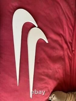 Rare 2 Nike Swoosh Check Suspension Boutique Affichage Panneau Publicité 2 Nike Logos