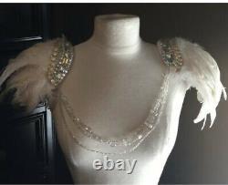Rare Victoria Secret Costume Ange Plumes Épaulières Ailes Afficher Magasin