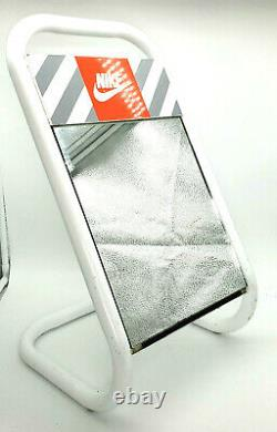 Rare Vintage Nike Shoe Mirror Véritable Mi-century Advertising Store Affichage Euc