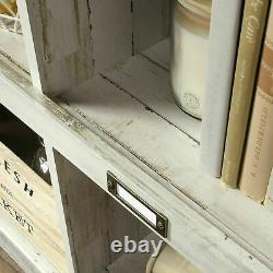 Rustic Farmhouse10-cubby Bibliothèque Bibliothèque Display Organisateur Plateau Blanc