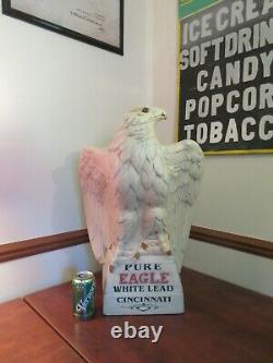 Scarce Antique Pure Eagle White Lead Paint Store Display Pré 1906 Cincinnati Oh