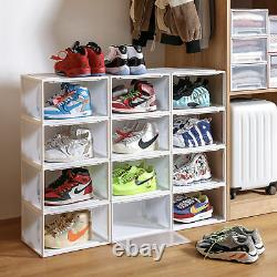 Shoe Box Plastic Magnetic Drop-side 5pk Stackable Container Storage Or Display