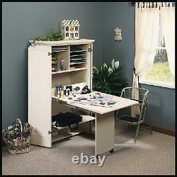 Table D'artisanat D'armoire D'artisanat Avec L'organisateur De Bureau De Stockage White Couture Workstatio