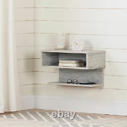 Table De Chevet Flottante Moderne Display Table De Rangement Mural Blanc Rustique