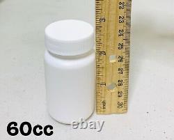 Vente En Gros 250 Vide White Pill Bottle Tablet Capsule Container/jar 60ml/cc