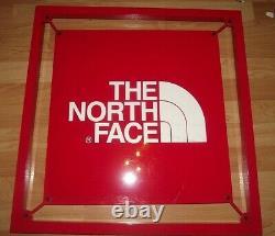 Vente! La Face Nord Classic Red Logo Metal Store Affichage Des Panneaux 24 X 24 X 1