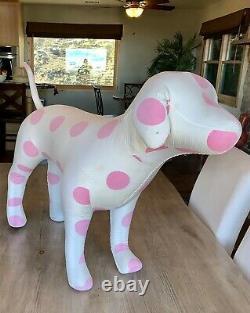 Victoria's Secret Pink Giant Store Display Dog Polka Dot Vs Rare! Répertoire