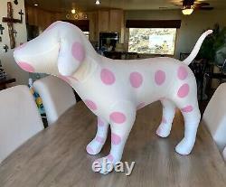 Victoria's Secret Pink Giant Store Display Dog Polka Dot Vs Rare! Retraite