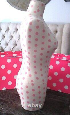 Victoria's Secret Pink Polka Dot Robe Forme Boutique Affichage Mannequin Rare