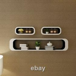 Vidaxl 3pcs Display Storage Cube Floating Wall Shelf Set Blanc/noir/rouge/vert