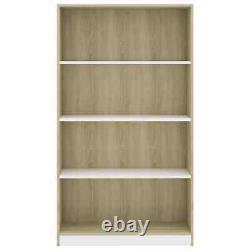 Vidaxl Bibliothèque Étagère Rangement Organisateur Cabinet Bibliothèque Display Wood Bookshelf