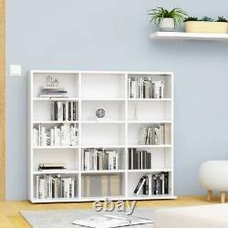 Vidaxl CD Cabinet Blanc Chipboard CD Display Étagère Bibliothèque Stand
