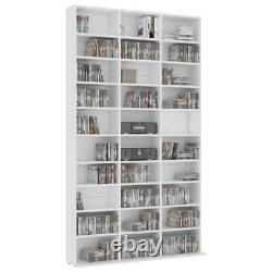 Vidaxl CD Cabinet White Chipboard Stand Storage Chest Display Shelf Bookcase