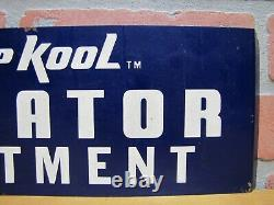 Vintage Keep Kool Radiator Traitement Sign Stp Repair Shop Store Display Publicité
