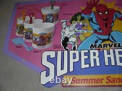 Vintage Marvel Super Hero White Castle Pails De Sable Boutique Display Marvelmania 1989