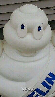 Vintage Pneu Michelin Man Bibendum Grand Écran De Magasin Statue Publicité 49