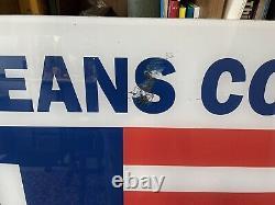 Vintage Polo Jeans Ralph Lauren Store Signer Plexiglass 40x50 Rare 20lbs